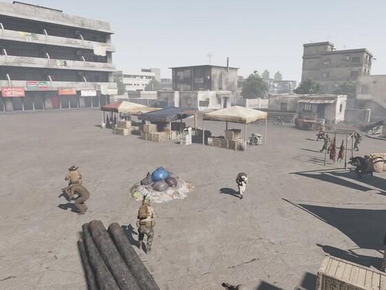Sandy Crush - Anschlag am Marktplatz